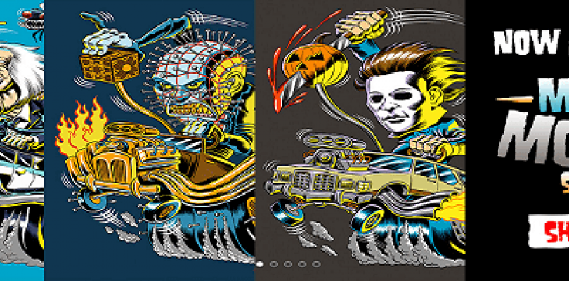 Horror Icons And Hot Rods, What More Do You Need? Fright Rags New T-Shirt Line